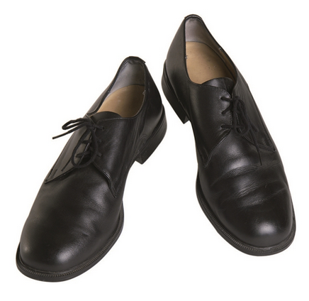 German Black Leather Dress Shoes Used