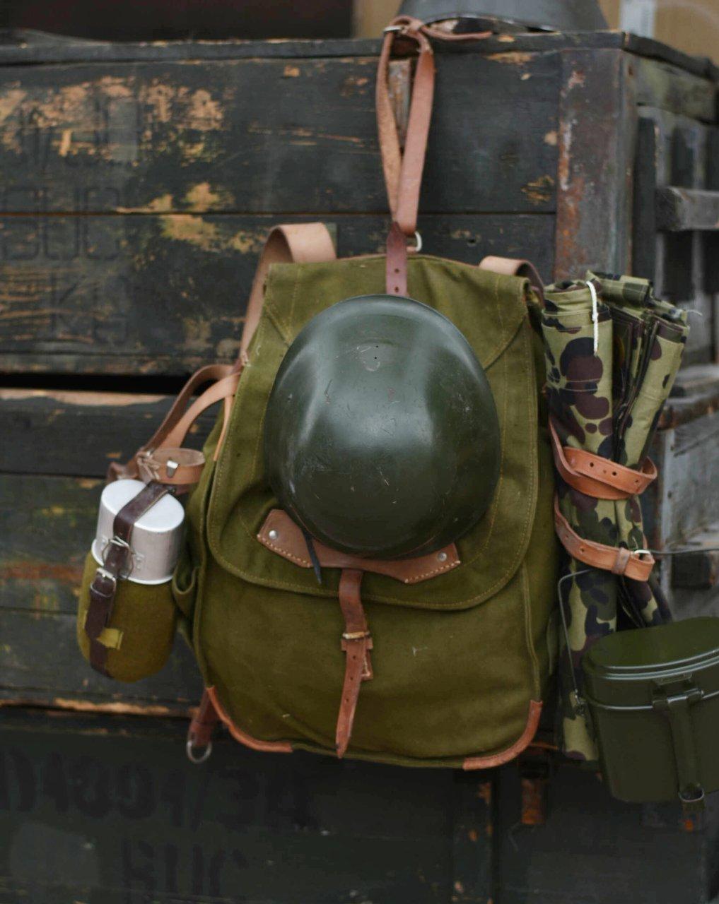 Mens Army Combat Military Shoulder Kit Travel Duffle Bag Canvas Surplus Green