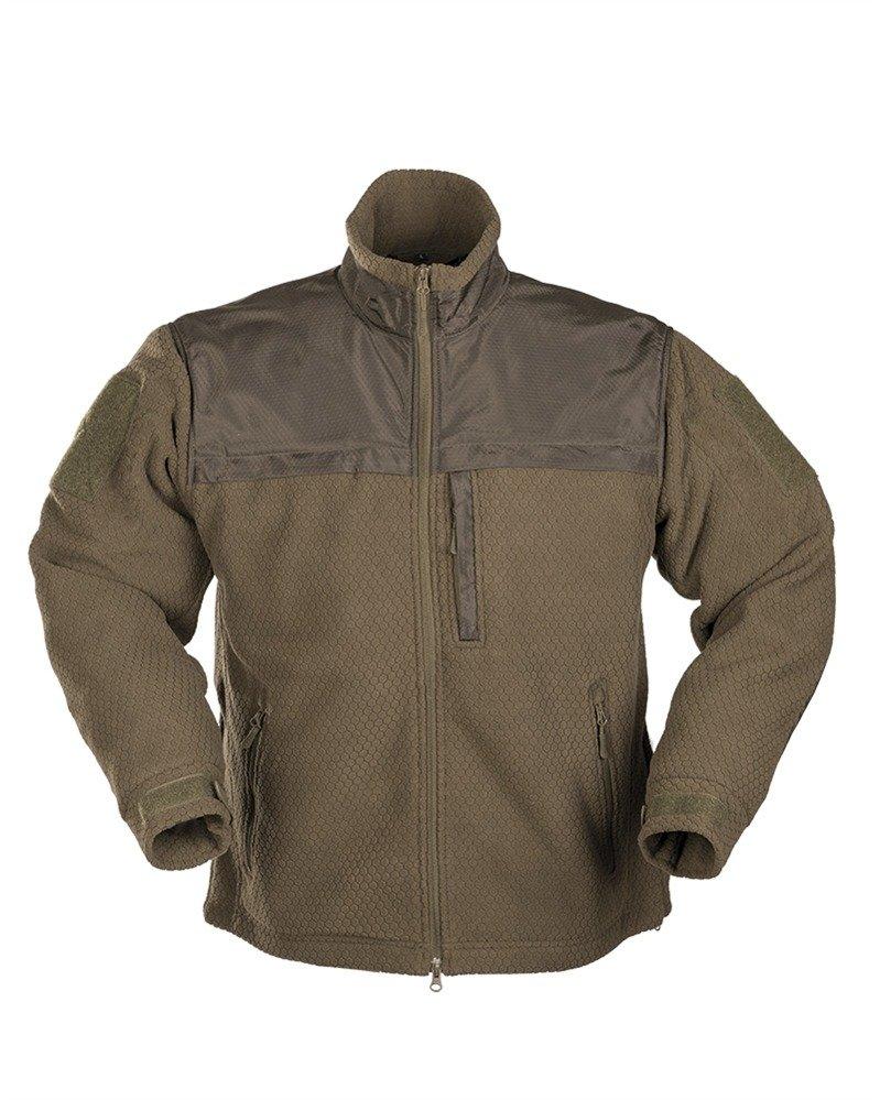 Mil-Tec Mens Elite Fleece Hextac Jacket Black