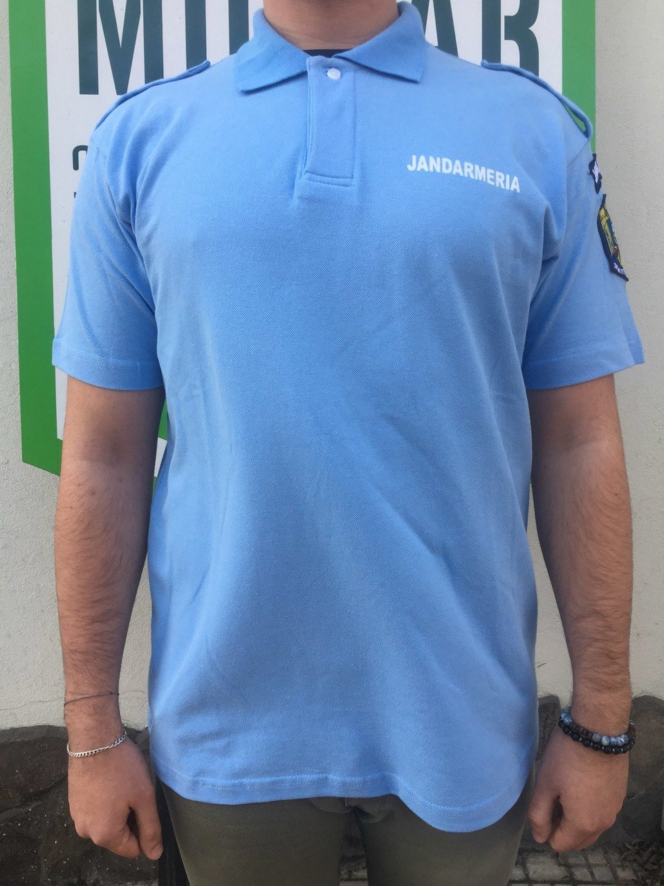 Genuine French Military Police blue cotton long sleeve shirt Gendarme NEW