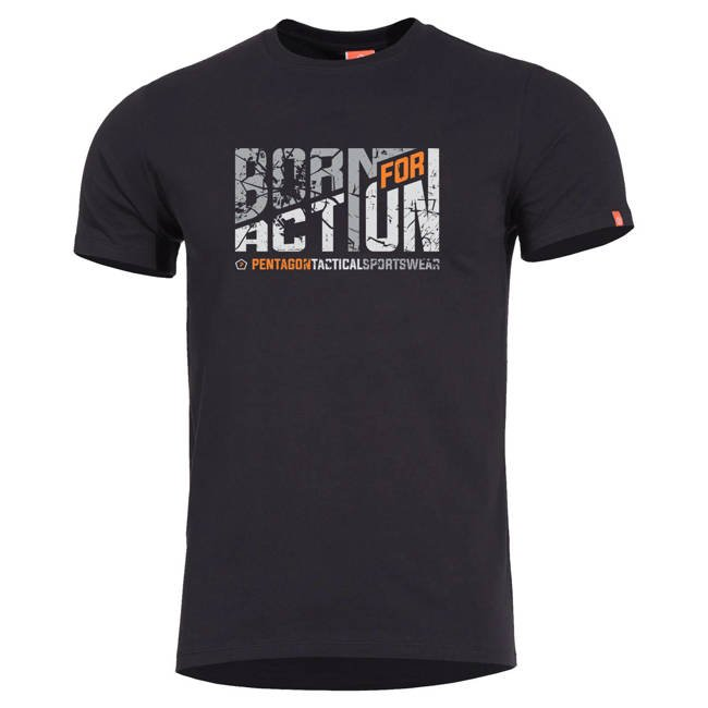 AGERON BORN FOR ACTION T-SHIRT - WHITE - PENTAGON