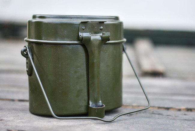 Aluminium canteen - RSR Romanian Army - Like new