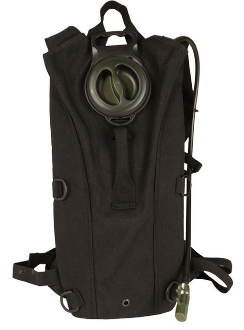 BLACK MIL-SPEC WATER PACK WITH STRAPS