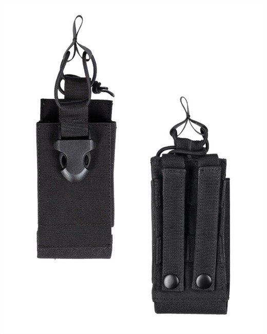 BLACK MOLLE RADIO POUCH