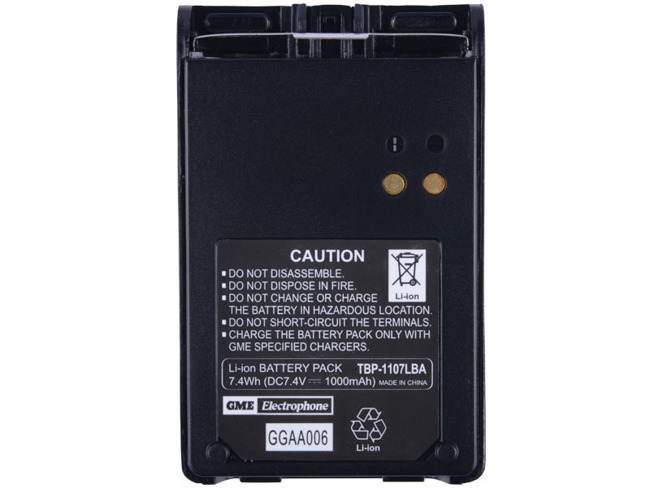 BP005 Battery, 1000mAh Li-Ion, TX630/GX620