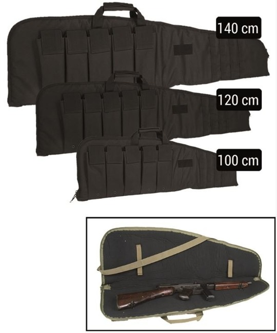 Black 140 CM RIFLE CASE WITH STRAP