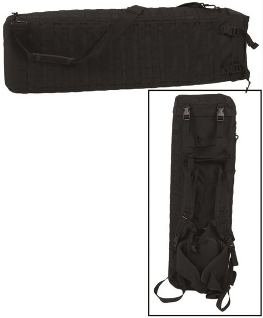 Black RIFLE CASE WITH DOUBLE STRAP