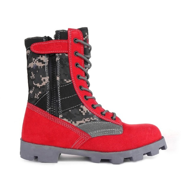 Boots Red - Red&Grey Digital Crazy Army Color