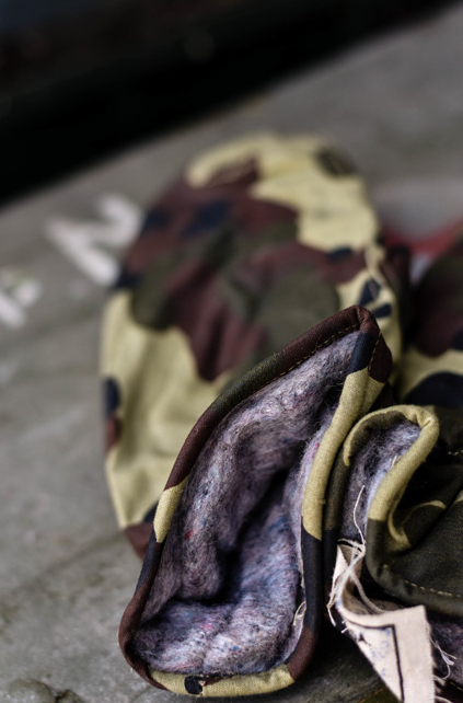 Camo gloves - Romanian Army Surplus