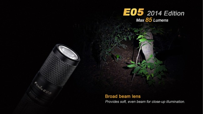 Flashlight Fenix E05, water resistant