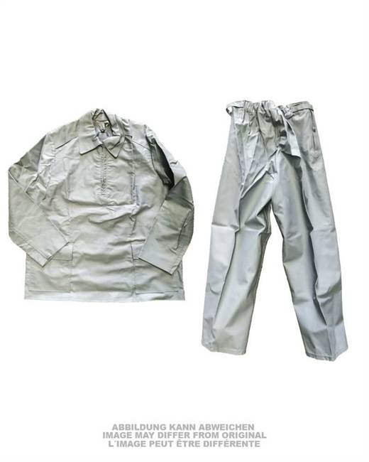 GERMAN RUBBERIZED WET WEATHER SUIT - GREY - USED
