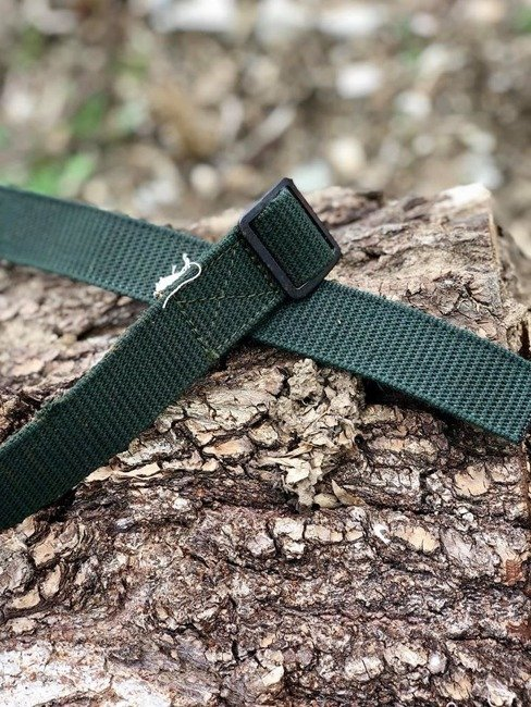 Green textile belt Romanian Army Surplus