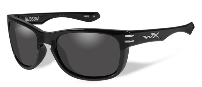 HUDSON GREY LENS/GLOSS BLACK FRAME