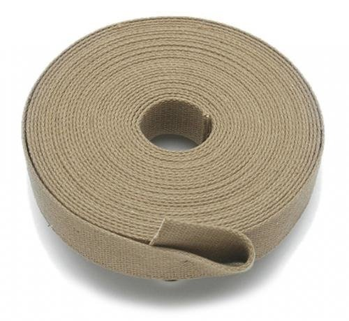 KHAKI COTTON ROLL WEBBING (30 X 1.8MM) - 20 METERS