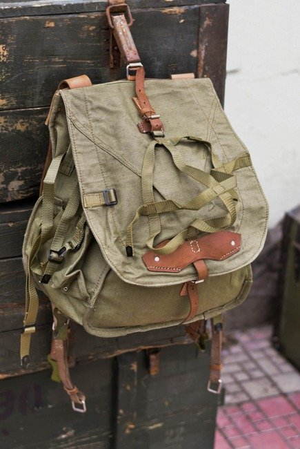 Military Rucksack- Cold War Romanian army (Canvas) - vintage rare