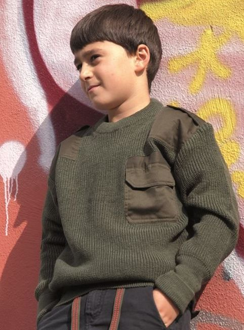 OD KIDS COMMANDO PAN SWEATER