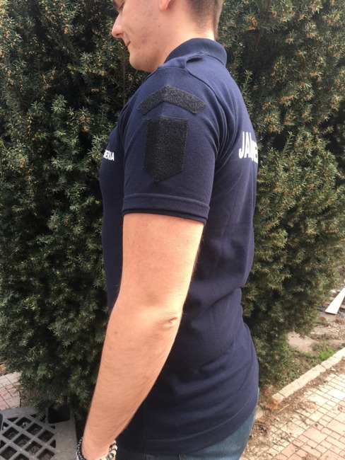 Polo T-Shirt, Navy Blue Gendarmerie