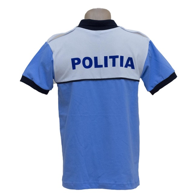 Polo T-Shirt, Light Blue Police shirt