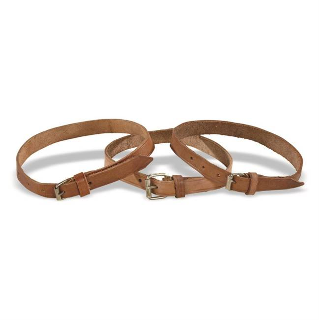 Romanian Military Surplus Leather Straps - 3 Pack