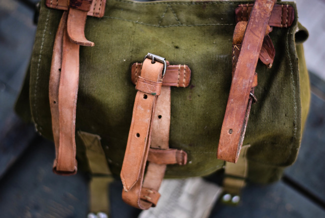 Romanian Military food satchel, post-WWII, Romanian Army Surplus