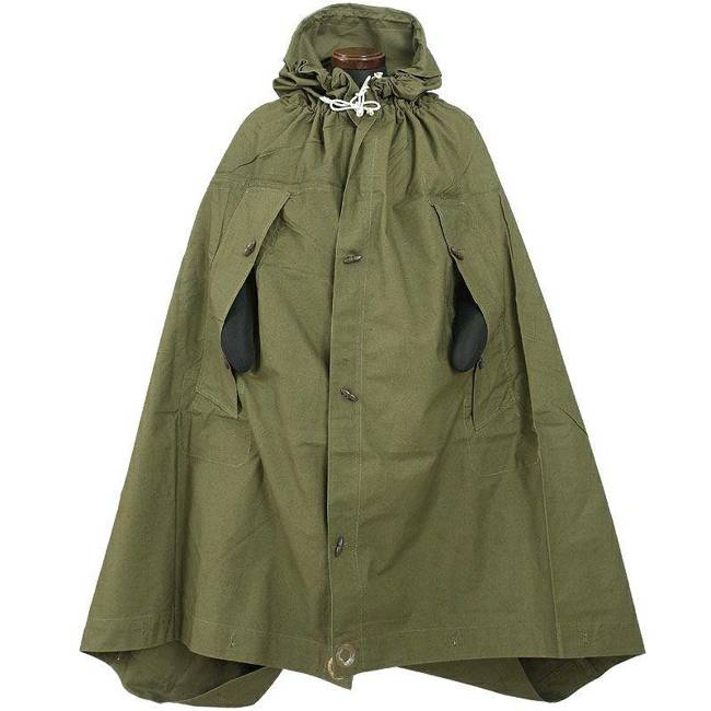 Romanian Plash-palatka, rain cape/shelter half, surplus, Olive, 1.80x1.80m