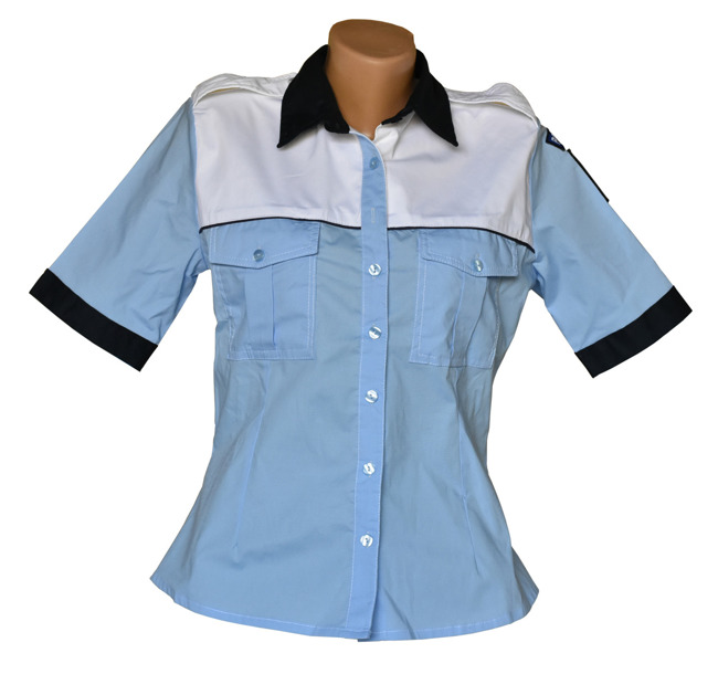 Shirt, Light Blue Police shirt