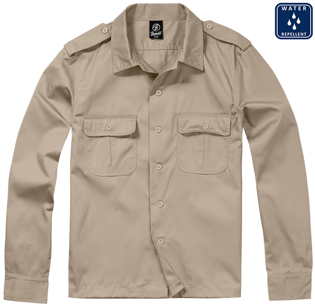 Shirt US Hemd 1/1 Arm beige