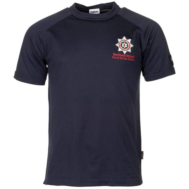 "T SHIRT ""FIRE & RESCUE SERVICE"" - BLUE - USED"