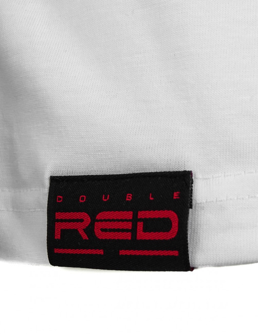 T-Shirt - Double Red - White Camodresscode