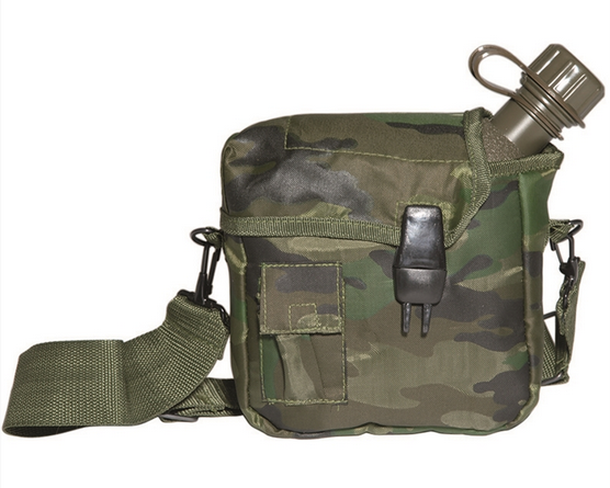 WOODLAND US 2QT CANTEEN W.COVER AND STRAP