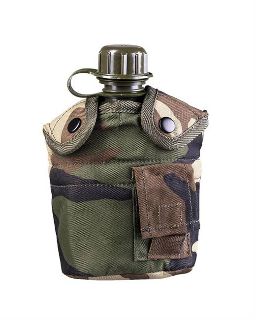 WOODLAND US PLASTIC CANTEEN W.CUP AND COVER