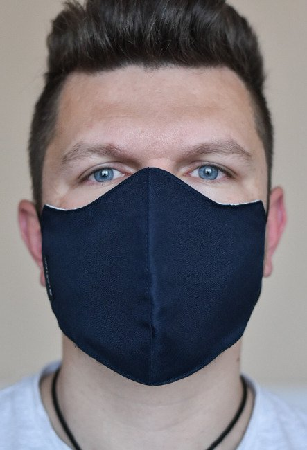 Urban Gear reusable mask with integred filter POLITIA  - Lecter Tactical - Midnight Blue