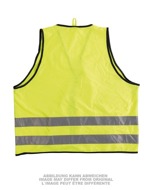 GERM.NEON GREEN WARNING VEST DIFFERENT STYLES USED