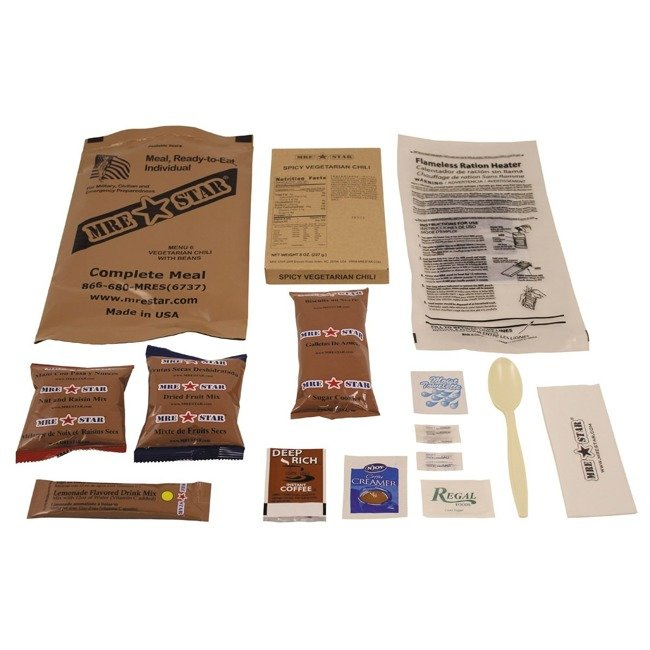"MRE Star Complete Meal, meal: 6 ""Vegetarian Chili"""