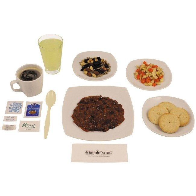 RATII MILITARE 'MRE - Meal Ready to Eat' RATIE COMPLETA - 6 Chilli Vegetarian